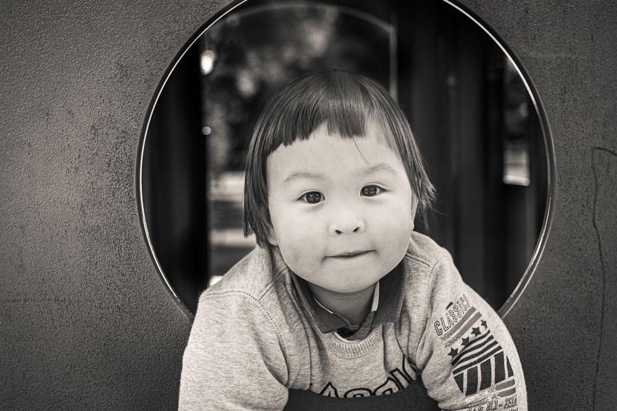 Sepia toned portrait