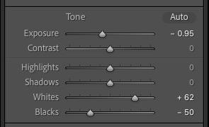 Lightroom Classic Tone sliders