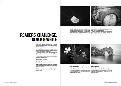 Creative Photographer Magazine challenge