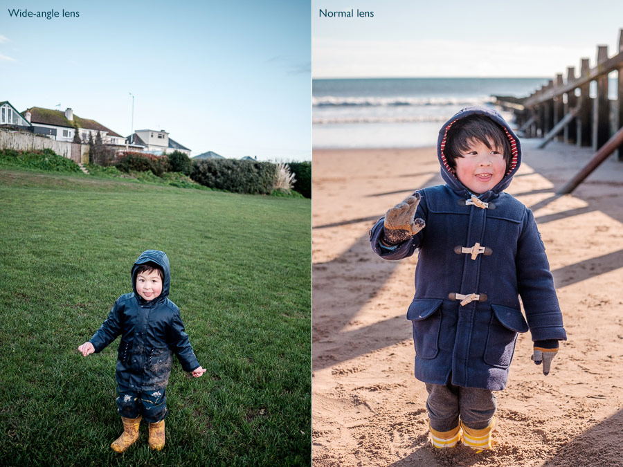 Using lenses to photograph kids