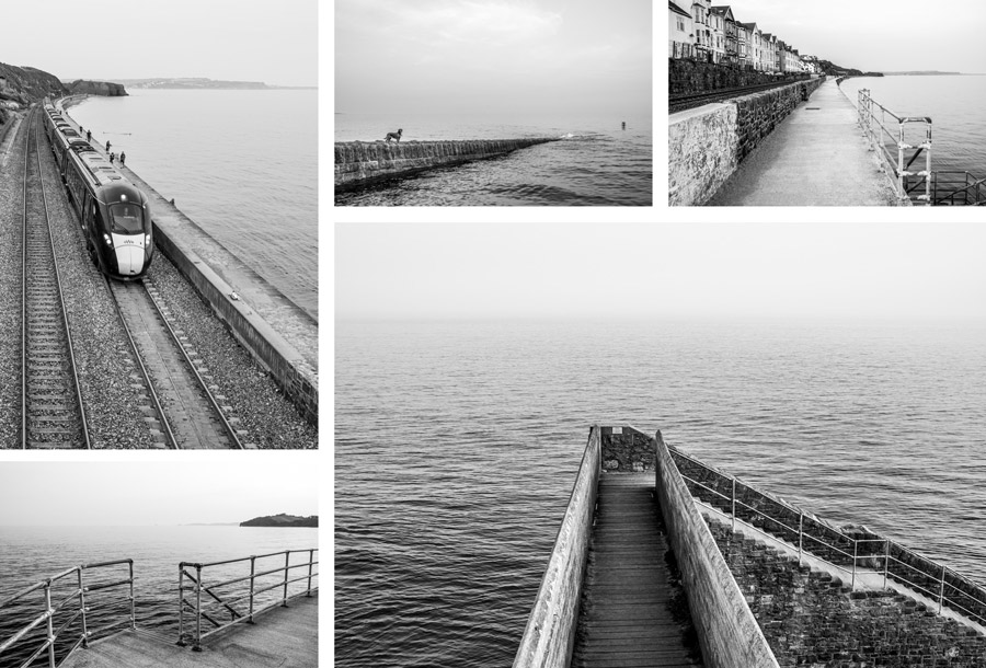Black and white photos sea