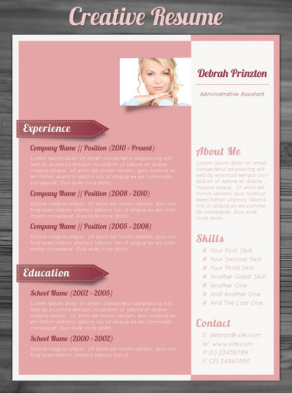 21 stunning creative resume templates 110 best free creative