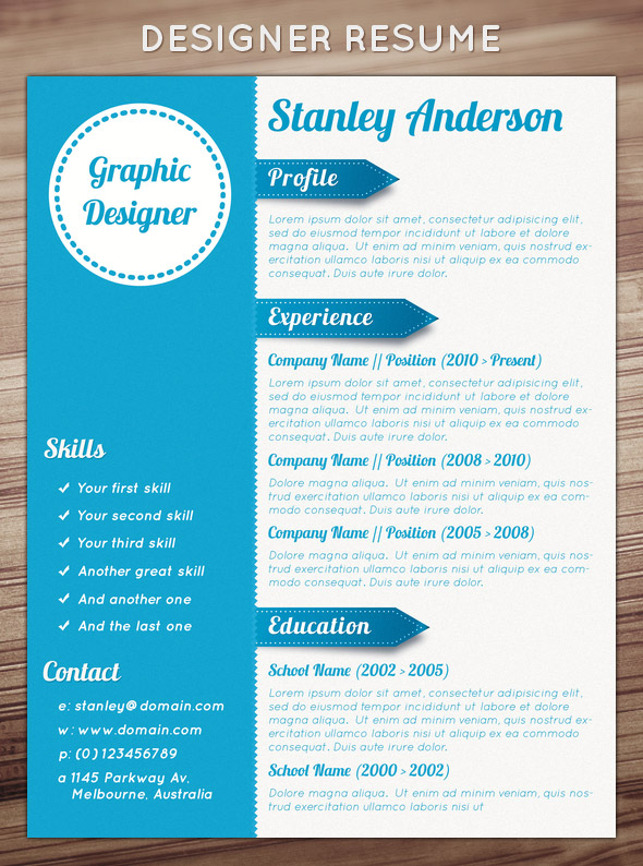 creative resumes graphic design bing images