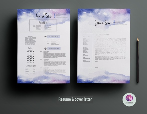 cool resume templates for word decruz design premium creative