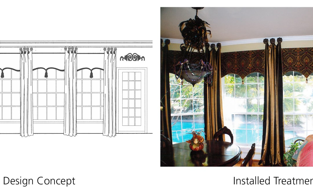 Board Mounted Curved Valance