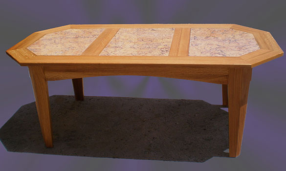 patio table manufactured in oak and granite creative woodworks