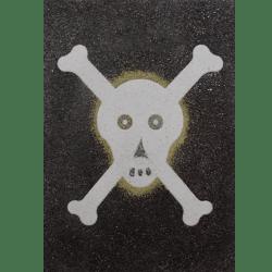 sand art skull and cross bones