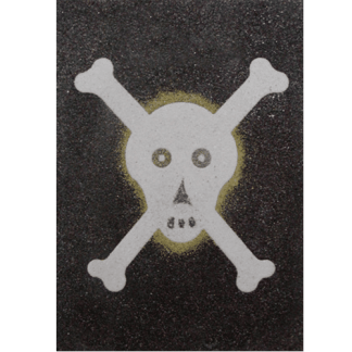 sand art skull and cross bones