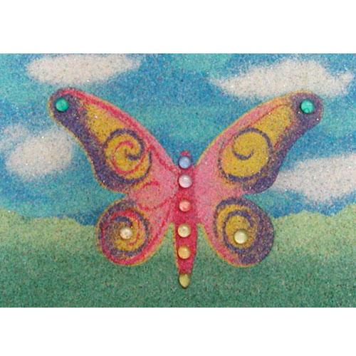 sand art buterfly