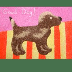 dog sand art