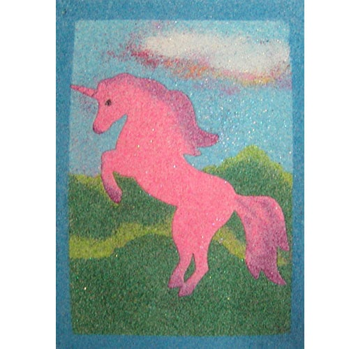 Sand Art Unicorn