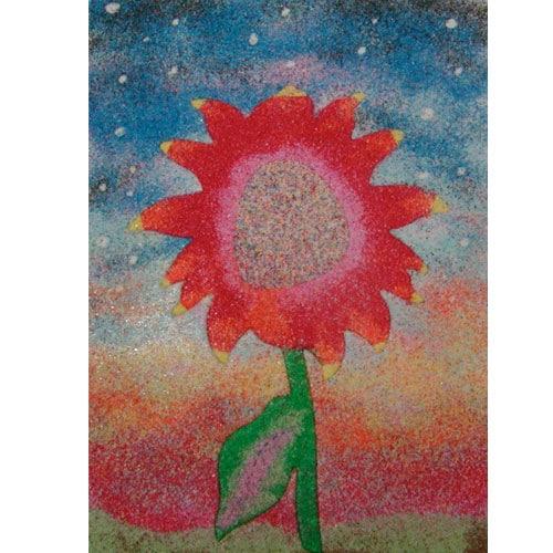 sand art flower