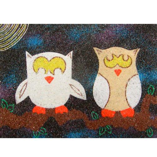 Sand Art Owls