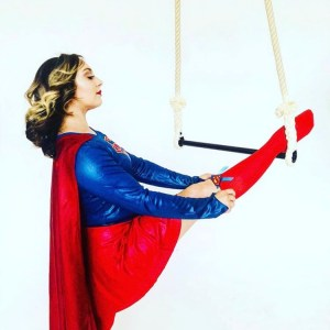 @the_metal_aerialist supergirl trapeze