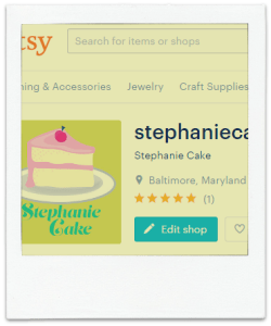 Stephanie Cake on Etsy | www.creativeandmindful.com