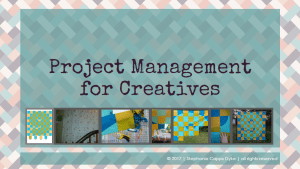 Project Mngmt for Creatives