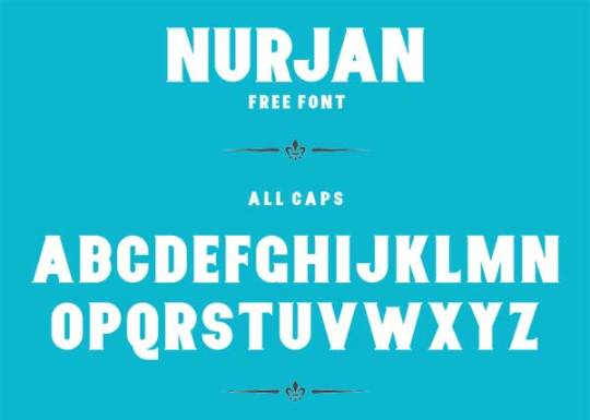 Nurjan Best Free Fonts 2014