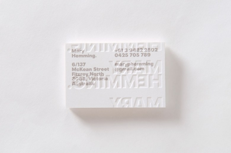 16 amazing business card designs from some of the worlds best this fine specimen of a business card is a personal calling card with a minimalist approach for mary hemming a consultant at therapeutic guidelines in reheart Choice Image