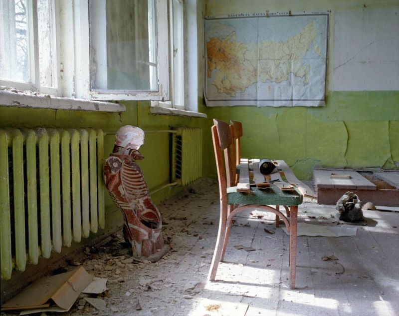 Schoolroom in the village of Shipelicki, April 1995. From the book, David McMillan: Growth and Decay - Pripyat and the Chernobyl Exclusion Zone, published by [Steidl Books](https://steidl.de/Books/Growth-and-Decay-Pripyat-and-the-Chernobyl-Exclusion-Zone-2326353746.html?SID=wNv9pBXee1bc) © David McMillan, 2018