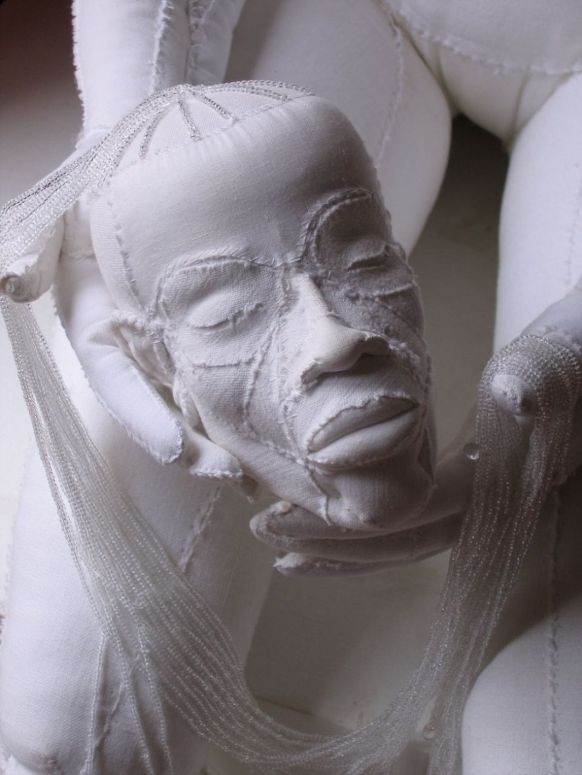Soft sculptures of the human anatomy crafted out of old ...