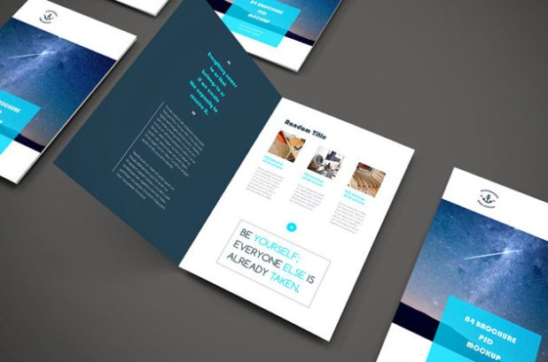 Free A4 PSD Brochure Mocup