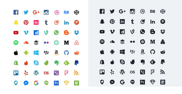 Download 50 Flat Icons- Free Social Media Icons