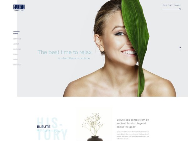 Bleute Beauty WordPress Theme