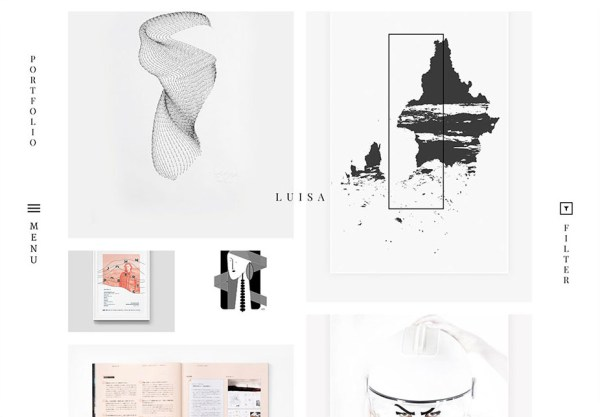 Luisa minimal portfolio WordPress Theme