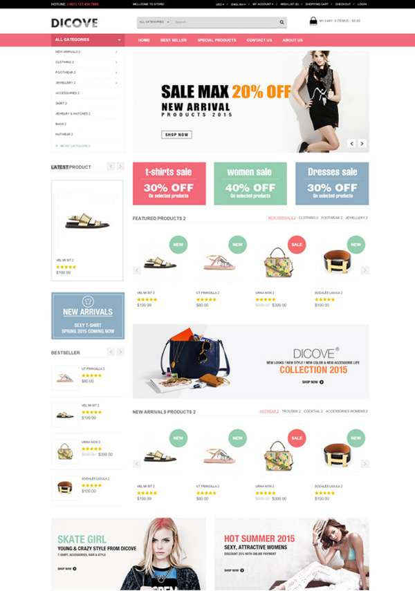 Discove OpenCart Theme