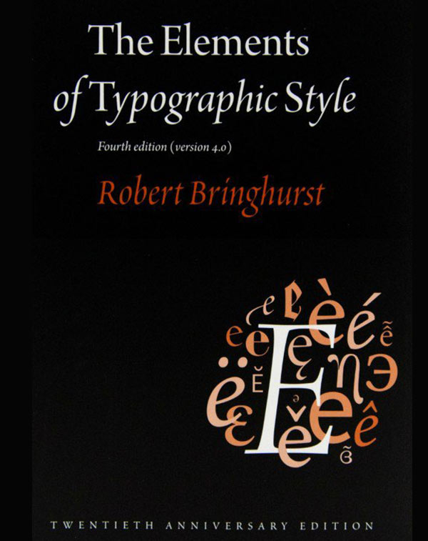 The Elements of Typographic Style - Graphic Design Books