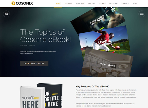 Cosonix ebook selling WordPress Theme