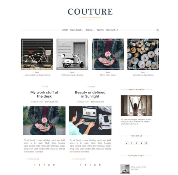 Couture Personal Blog Template