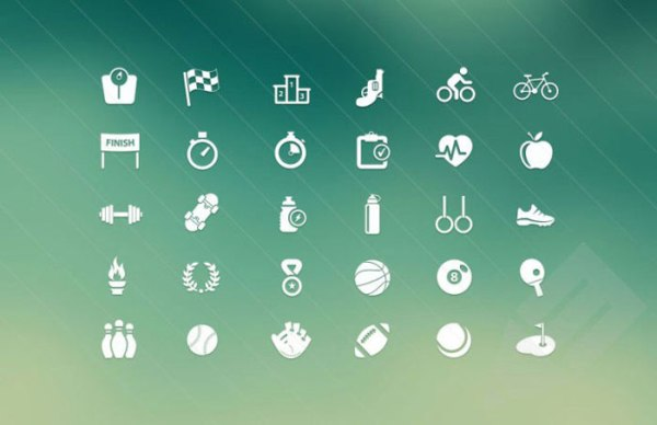Sports Fitness Vector Icons - Free