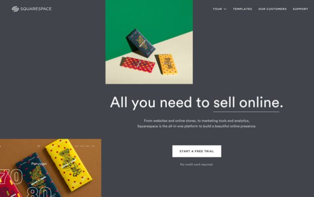 Square space free website builder