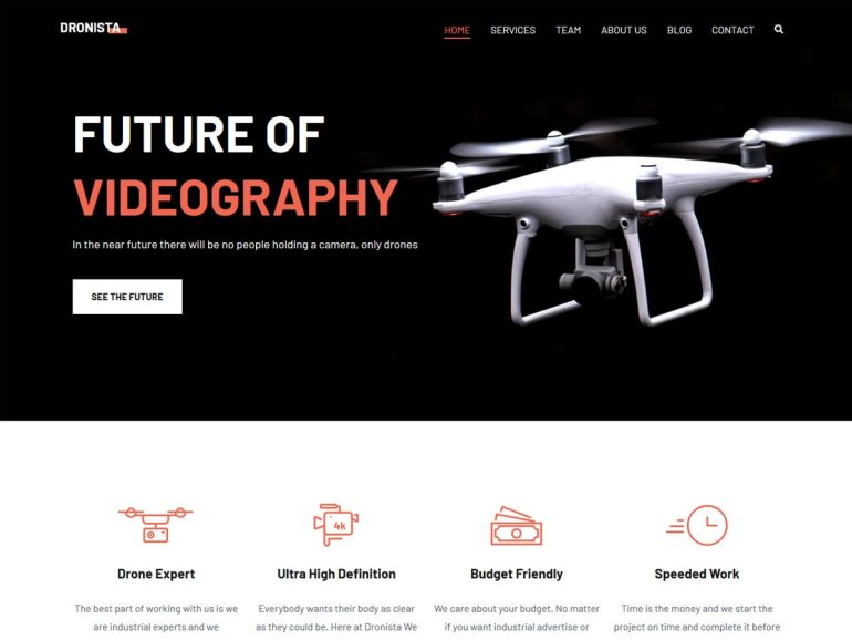 Zakra Drone free word press theme