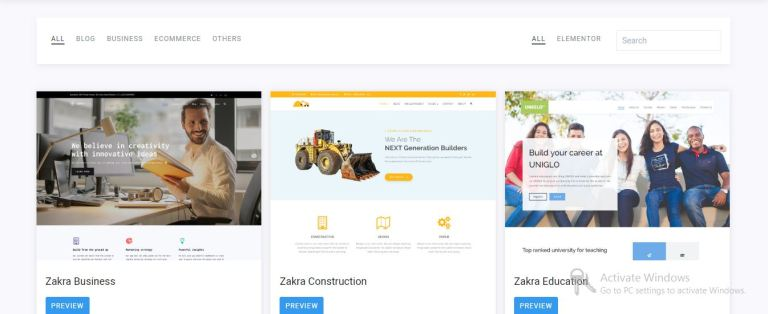 Zakra Business free word press theme