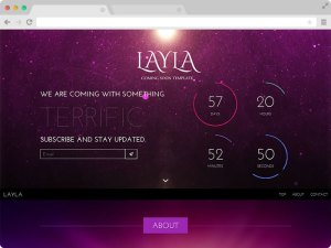 Layla coming soon template download free