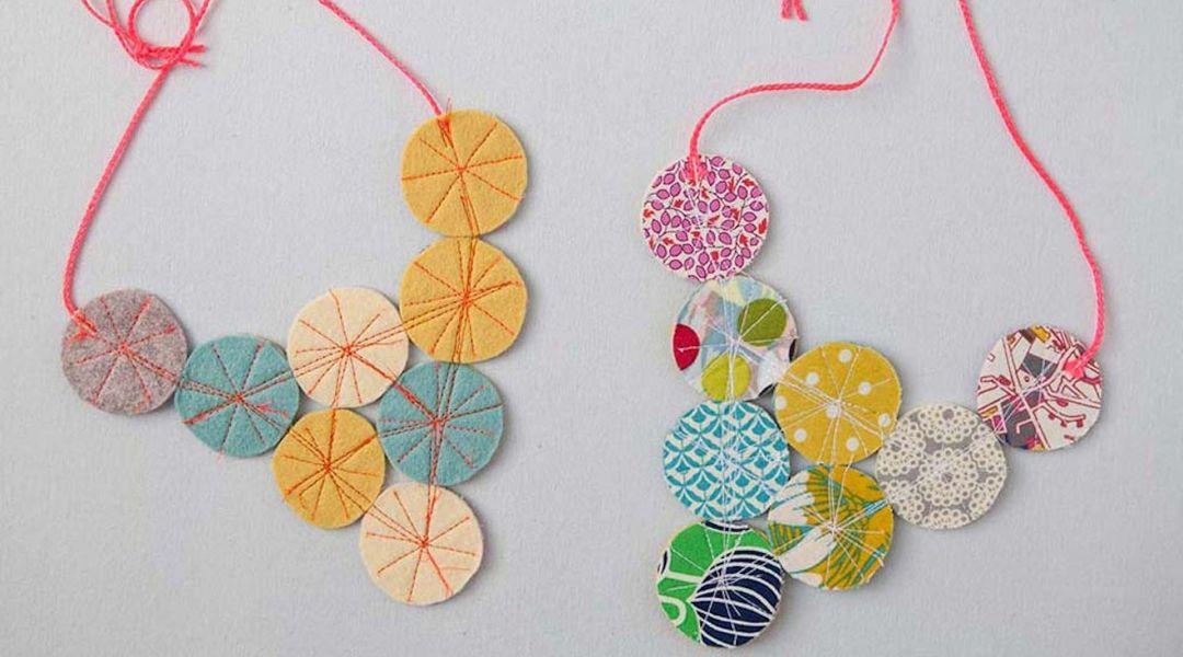 Fabric Circles Necklace By Annabel Wrigley Creativebug