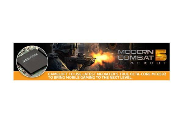MediaTek Gameloft Modern Combat Web Banner 1