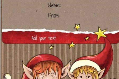 Free Christmas Gift Certificate Template   Customize Online   Download Free printable gift certificate template with two cute elves