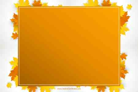 Free Thanksgiving Border Templates   Customizable   Printable Free printable Thanksgiving border with an orange rectangle and leaves  around it