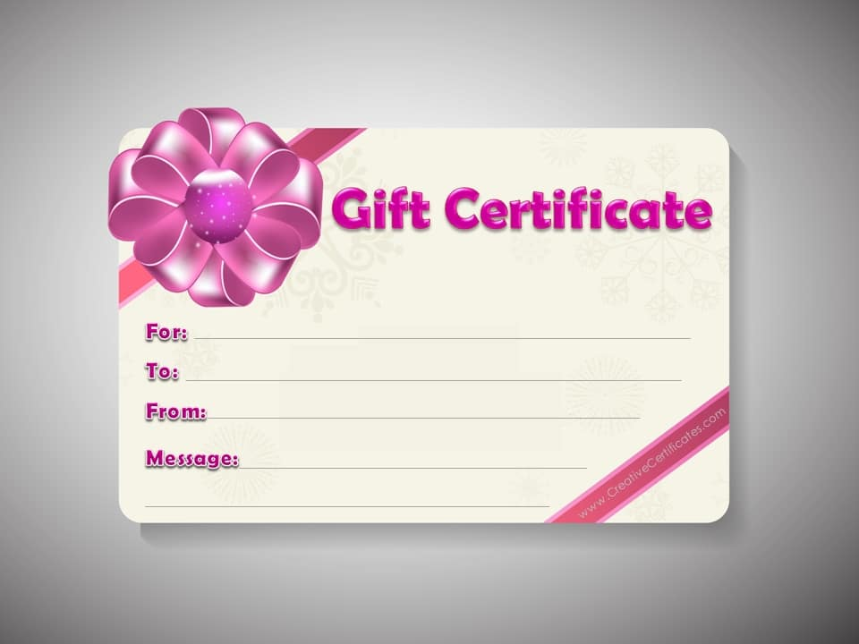 editable massage gift certificate template