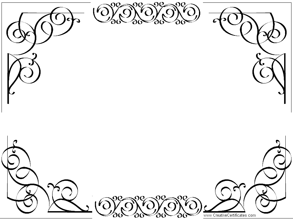 Template Borders. Free Decorative Borders Vector Templates Free