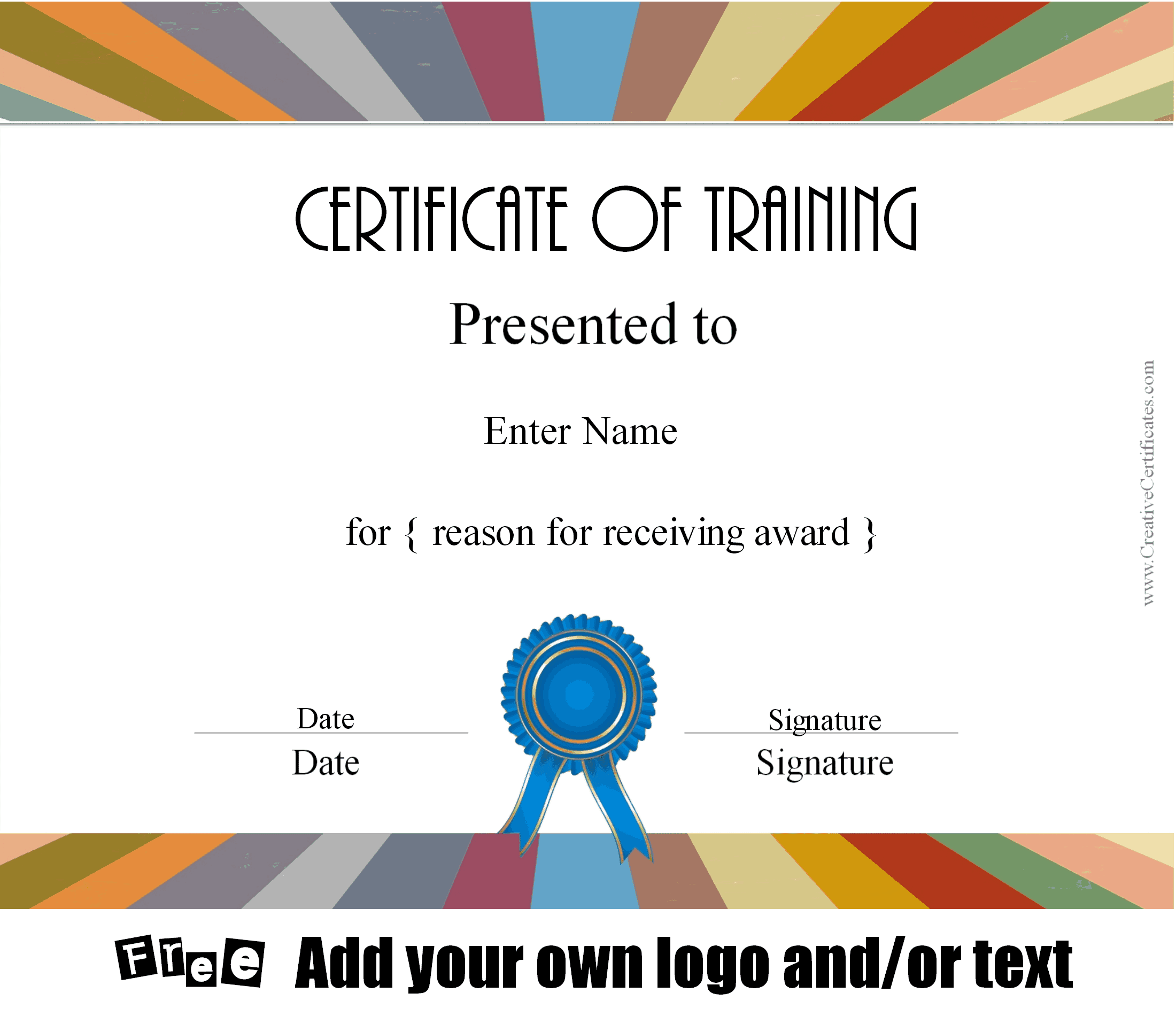 Doc636472 sample certificate of training private loan contract doc580456 certificate of training template 6 free training certificate of training certificate of training template yadclub Gallery