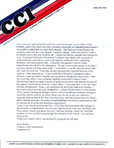 Franchise success letter