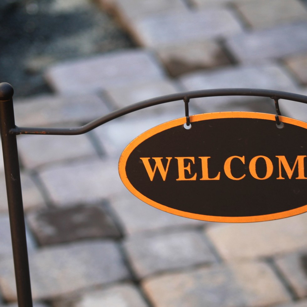 """Welcome"" by Josh Meek via Flickr (CC BY 2.0)"