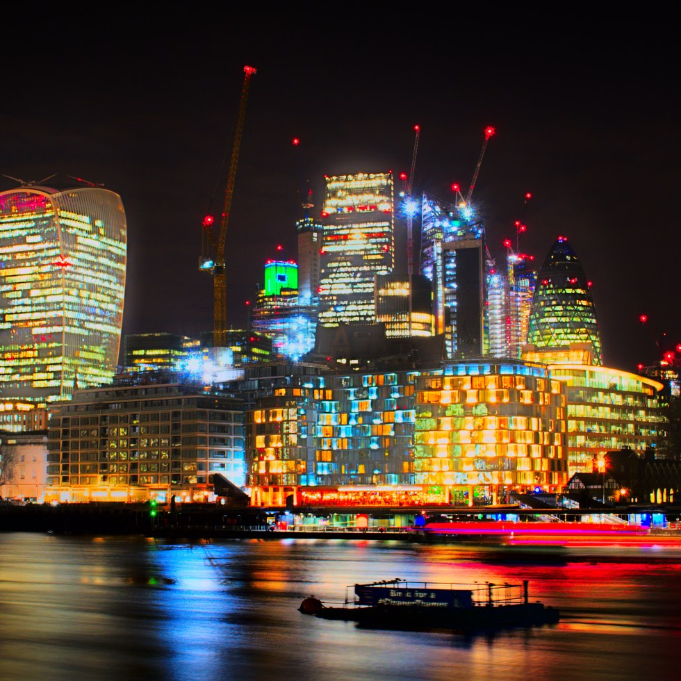 City lights ablaze