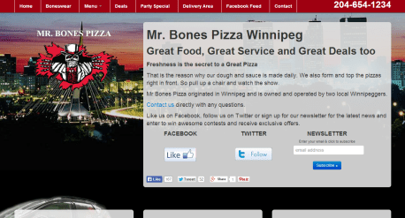 Mr. Bones Pizza