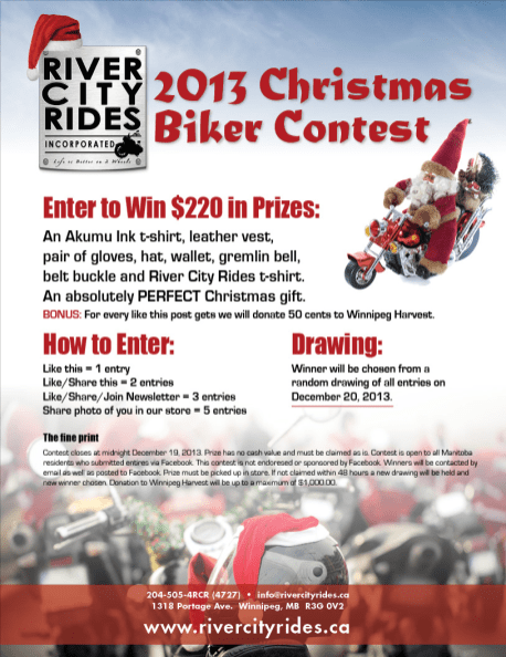 River City Rides Christmas 2013 Poster