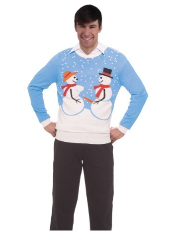 cheap ugly christmas sweaters couple snowman